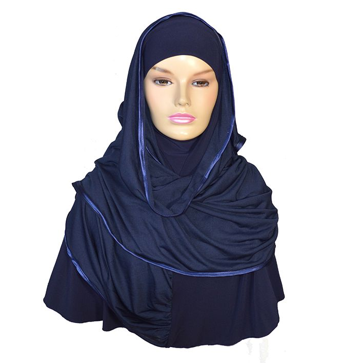Extra large Kuwait hijab that covers the chin and can cover the face in needed too.
