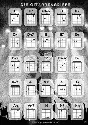 """Blick ins Buch """"Merlins Gitarrenstunde"""" - Homepage von """"Merlins Gitarrenstunde"""", Gitarrenschule für Kinder, Lehrbuch für Gitarre von Monika Windlicht"""