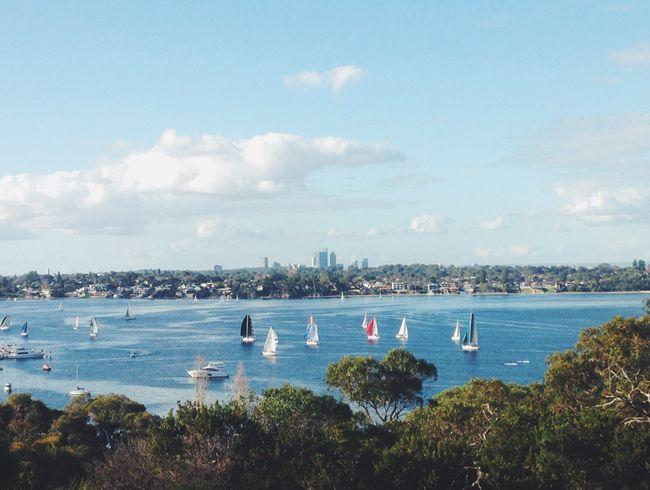 View from Mosman Park Bowling Club Perth Western Australia