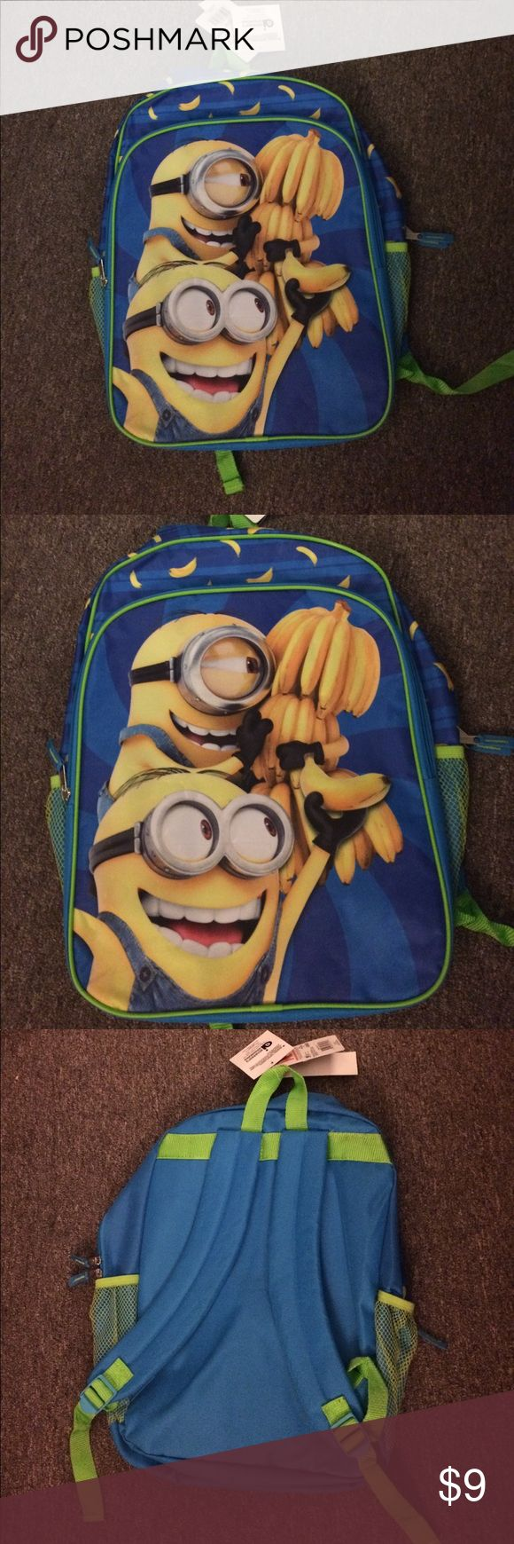 Minions Backpack Minions Backpack, Brand New never used, tiny tear in mesh pocket as seen in last pic Disney Accessories Bags