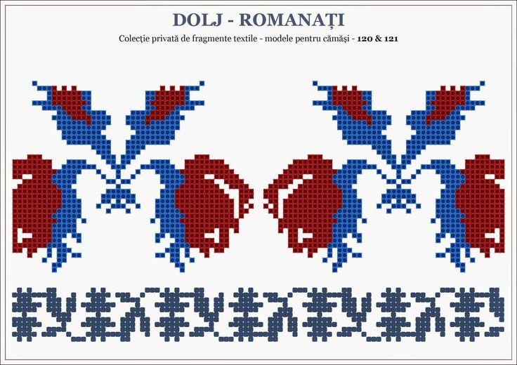 Semne Cusute: traditional Romanian motifs - OLTENIA; Dolj-Romanati