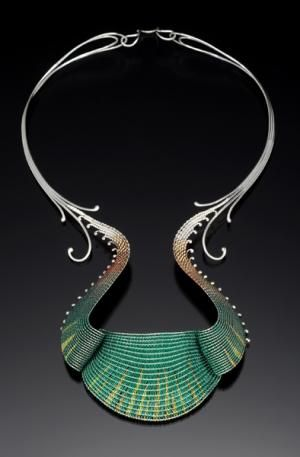 Mary Lee Hu, lacquered and silver wire