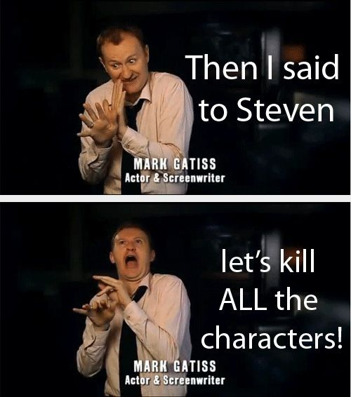 Mark Gatiss ladies and gentlemen UGH