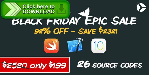 [ThemeForest]Free nulled download Black Friday Epic Sale - 26 source codes, iOS10 Swift 3 and Xcode 8 ready from http://zippyfile.download/f.php?id=39202 Tags: ecommerce, ads, Candy Crush Saga, coins, flat style, flip, game center, in app purchases, ios10, ipad pro, iphone, native, reskin, sprite kit, swift 3, virtual currency