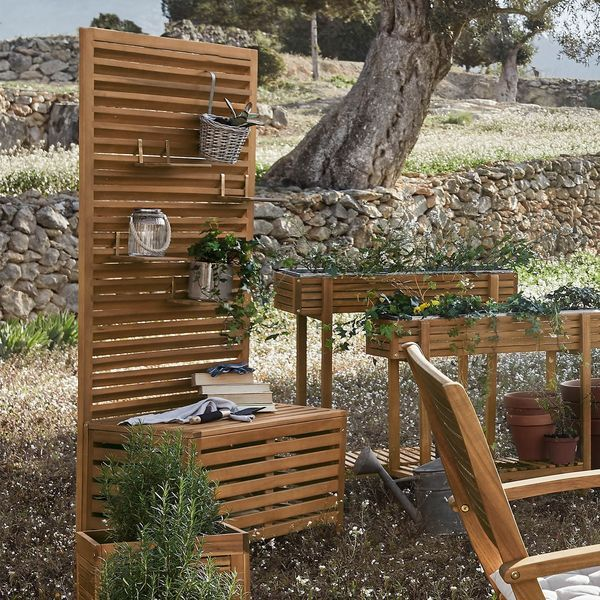 Hochbeet Akazie Fsc 100 90x30x75cm Natur Balkon Sichtschutz Diy Pergola Pergola Schatten