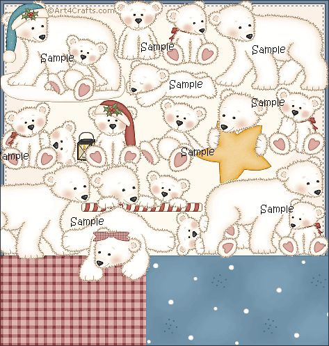Craft Clipart 27: Polar bears