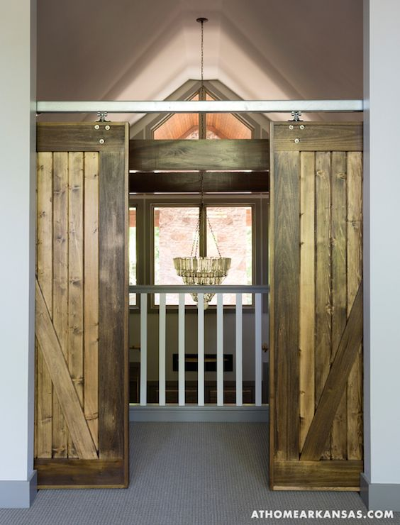 Foyer Interior Kit : Interior barn doors cottage entrance foyer at home in