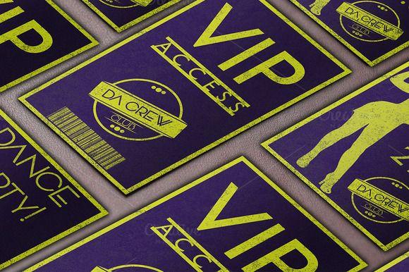 Night Club VIP Pass @creativework247 Templates - Templates - free vip pass template