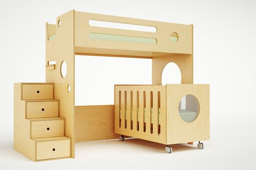 Toddler Bunk Bed With Crib - WoodWorking Projects & Plans