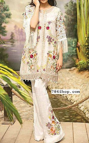 145a5efae2 Off-White Chiffon Suit   Buy Coir Pakistani Dresses and Clothing online in  USA, UK