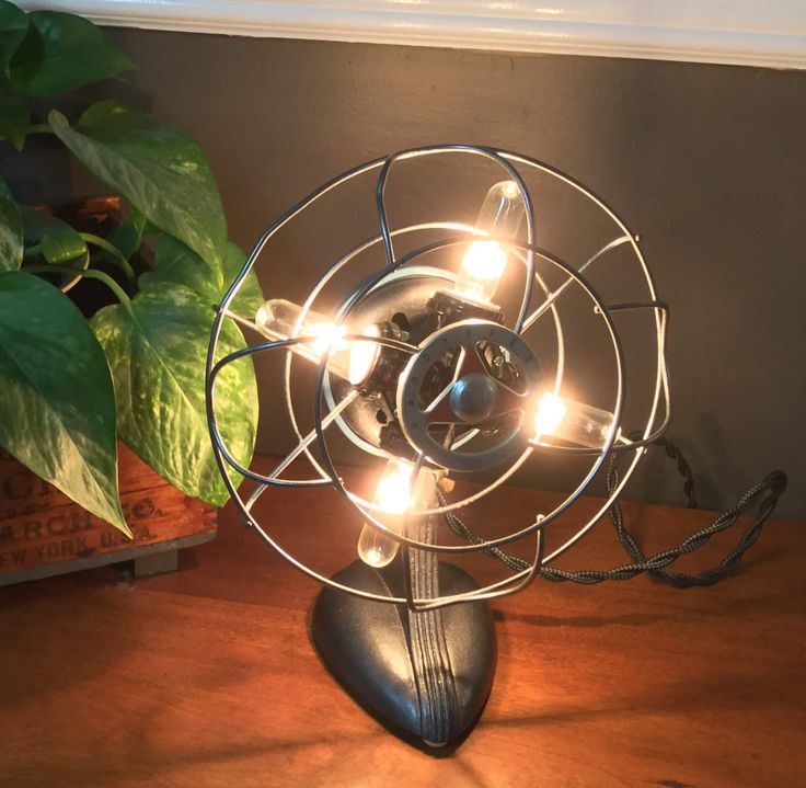 A personal favorite from my Etsy shop https://www.etsy.com/listing/503077878/handy-breeze-small-electric-fan-lamp