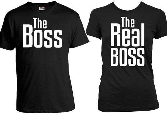c80728107dd Matching Couple Shirts His And Her Shirts Couple T Shirts Couple Outfits  Wedding T Shirts Boss Real Boss T Shirt Mens Ladies Tee FAT-271-272