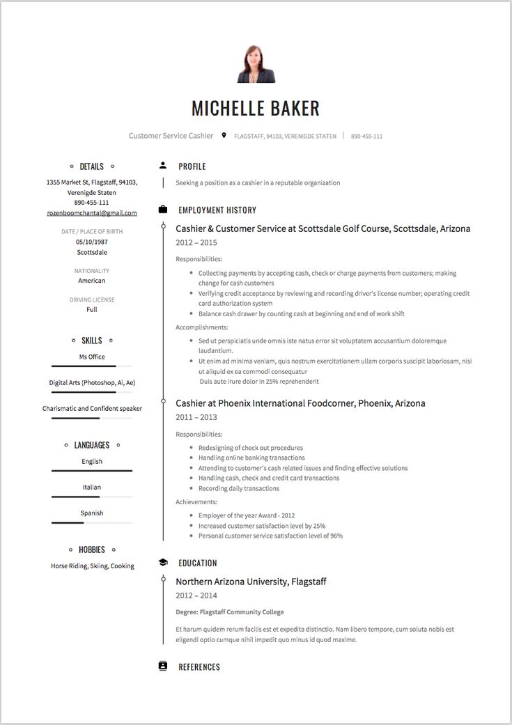Best 25+ Cashiers resume ideas on Pinterest Artist resume - country club chef sample resume