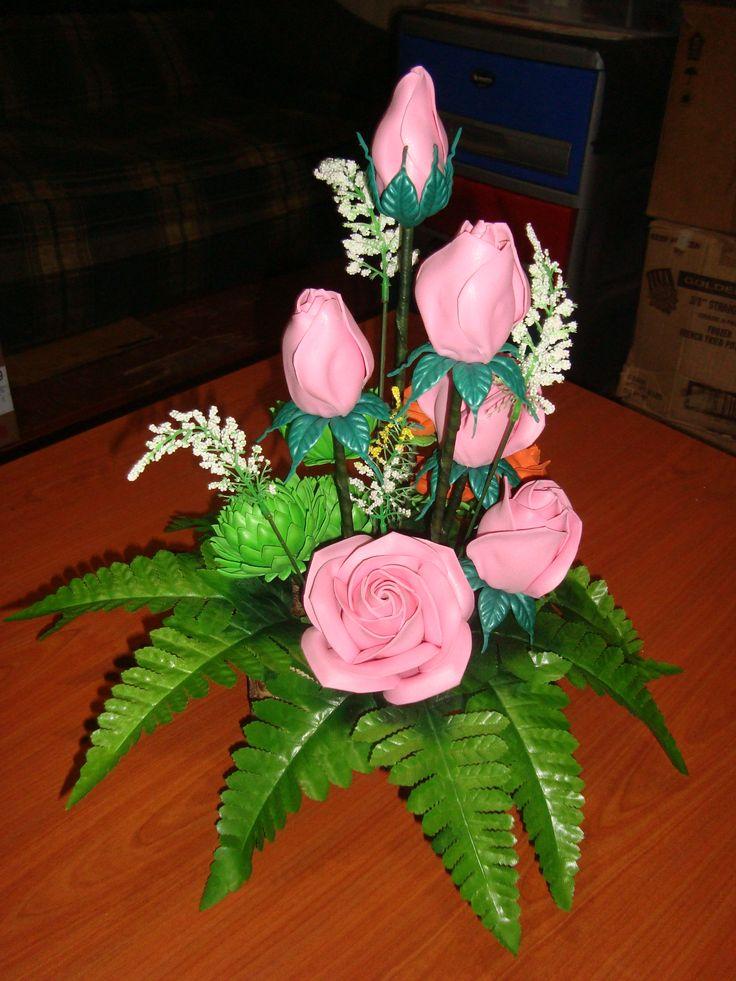 rosas de foamy