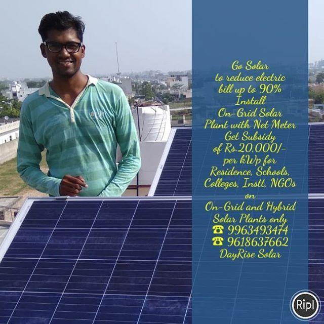 Rooftop Solar Panel System Installation Dayrise Solar In 2020 Solar Solar Power House Solar Panel Installation