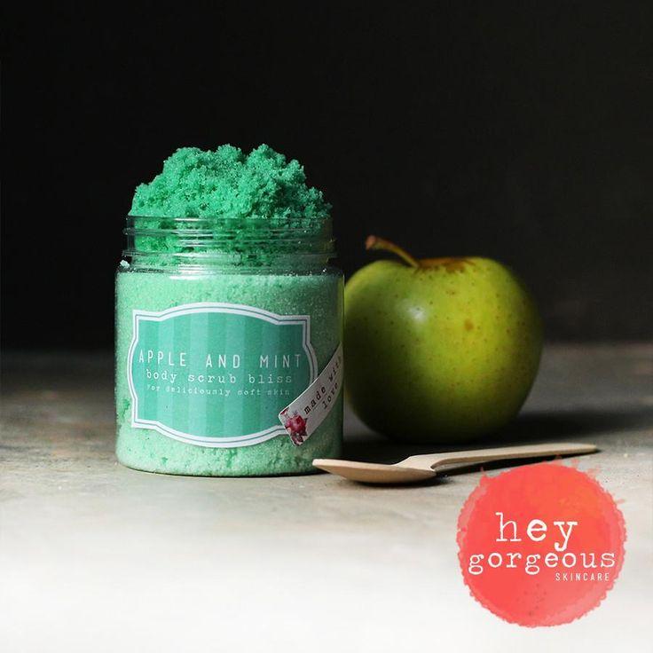 Apple and mint scrub