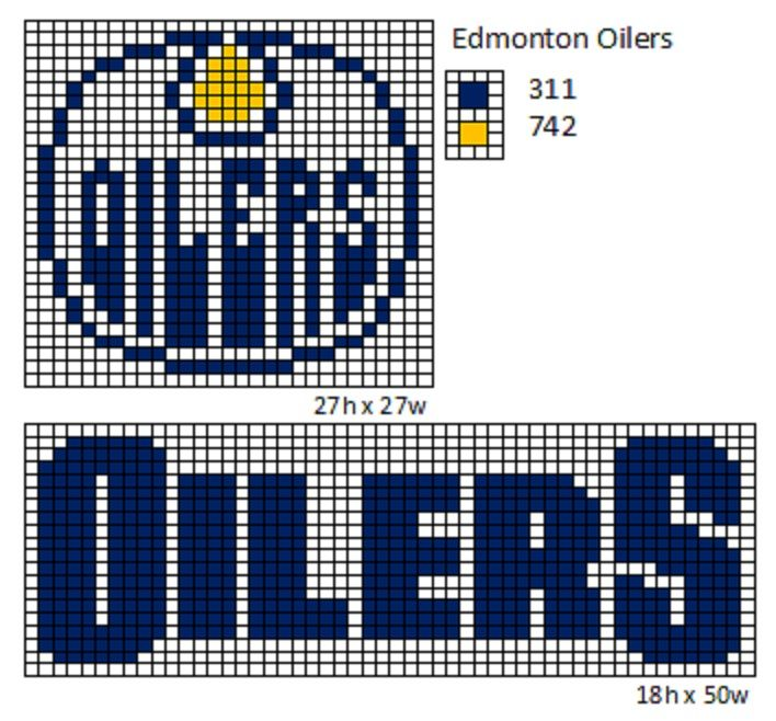 Edmonton Oilers cross stitch by cdbvulpix.deviantart.com on @deviantART