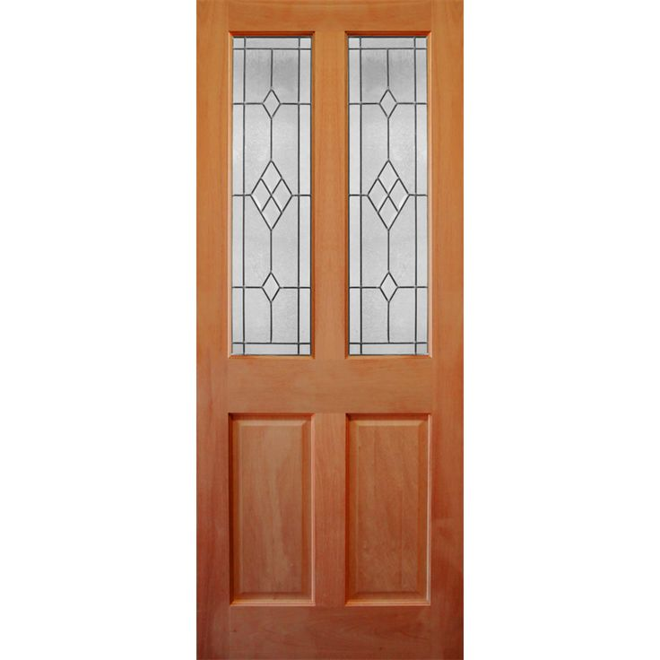 Corinthian Doors 2040 x 820 x 40mm Windsor Entrance Door With Diamond Pattern Bevelled Glass