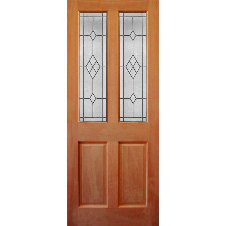 Corinthian Doors 2040 x 820 x 40mm Windsor Entrance Door With Diamond Pattern Bevelled Glass