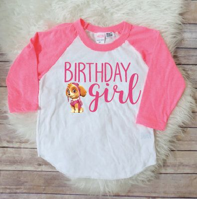 8b2da91e6c4a9 Birthday girl shirt- Skye Version, paw patrol birthday shirt, skye birthday  shirt,