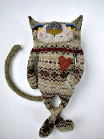 Stuffed Animals Made from Old Sweaters - Creepy or Cute? 12 - https://www.facebook.com/different.solutions.page