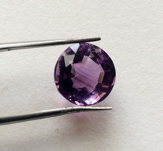 Amethyst Faceted Solitaire Cut Round 11.5mm by gemsforjewels