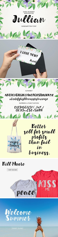Julian Script Typeface - download freebie by PixelBuddha