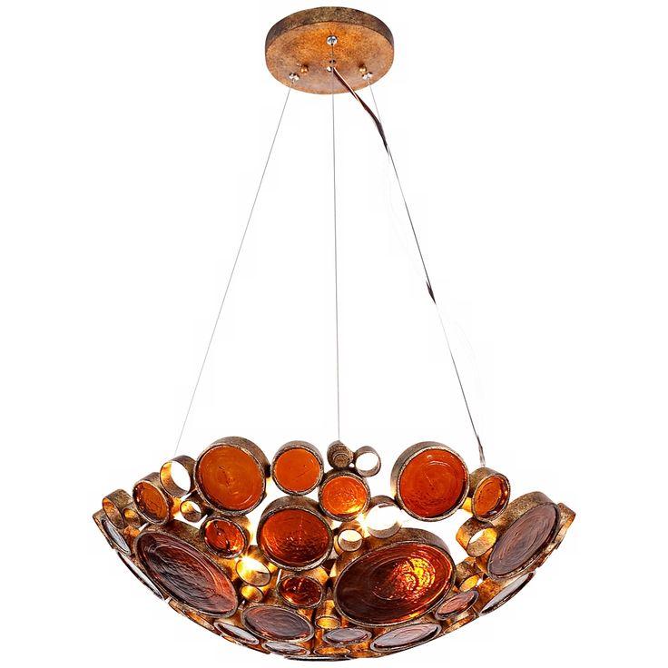 Varaluz Fascination Kolorado Reclaimed Glass Bowl Pendant - Style # R8474