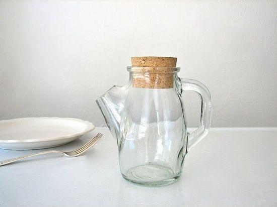caraffa piccola vetro tappo sughero