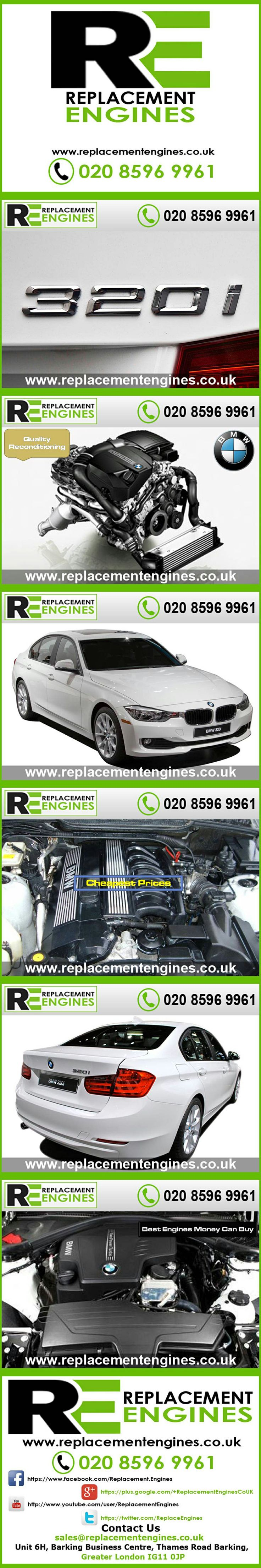 BMW 320i engines for sale at the cheapest prices, we have low mileage used & reconditioned engines in stock now, ready to be delivered to anywhere in the UK or overseas, visit Replacement Engines website here.