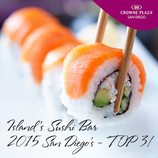 San Diego #sushi lovers have spoken!  Our Island's Sushi Bar placed Top 3 in the San Diego Union Tribune Readers 2015 Best Poll! #OhSoOno #Delish