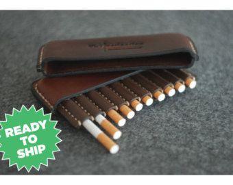 Vente Porte cigarette en cuir fait à la main par ArtLeatherDesign