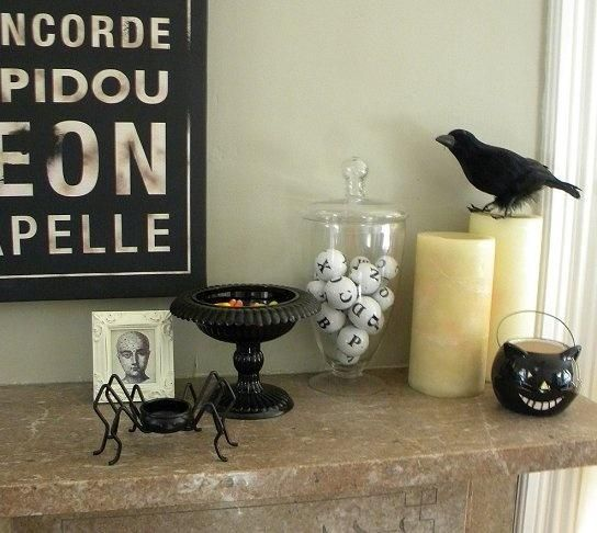 Noble Minimale Halloween Dekor Ideen 5