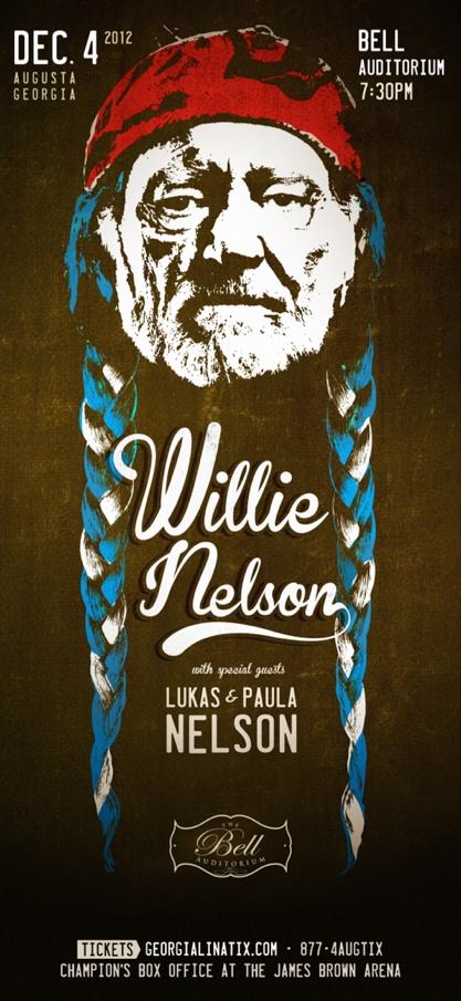 Willie Nelson #poster #augusta #ga