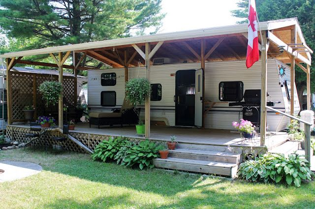 Build A Rv Cover : Images about travel trailer porches on pinterest