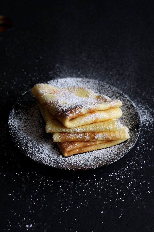 Thick, soft crepes (Austrian Palatschinken) | Recipe: lilvienna.com