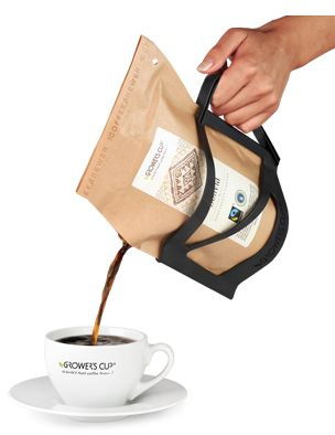 Grower's cup. Make real coffee without machines. just pour hot water into
