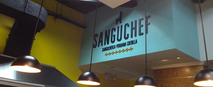 Rótulo para restaurante. Restaurant handmade signage. By www.solucionescolor.com