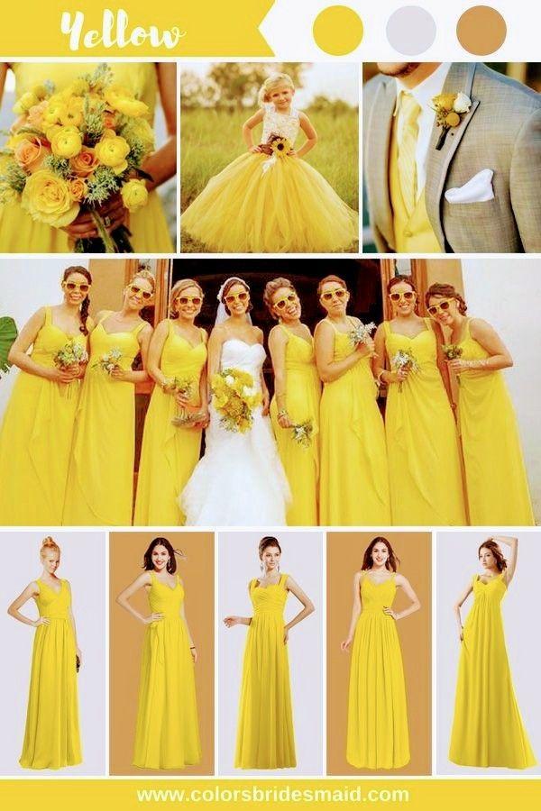 Pin By Kenny Velis On Damas De Honor Amarillo Yellow Bridesmaid Dresses Yellow Bridesmaids Yellow Bridesmaid Dresses Short