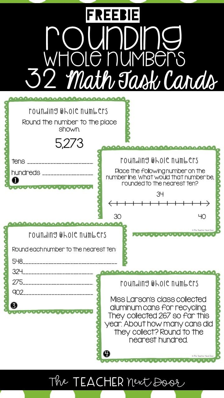 This Free Set Of 32 Rounding Whole Numbers Task Cards Will Help Your Students Practice Rounding Up To Rounding Whole Numbers Math Centers Rounding Math Centers [ 1280 x 720 Pixel ]