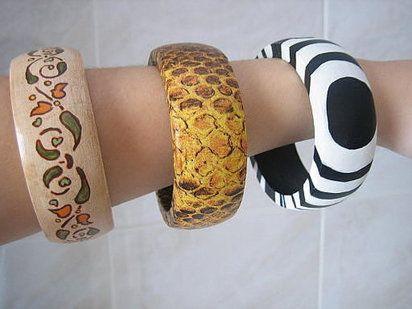 5 pulseras hechas a mano