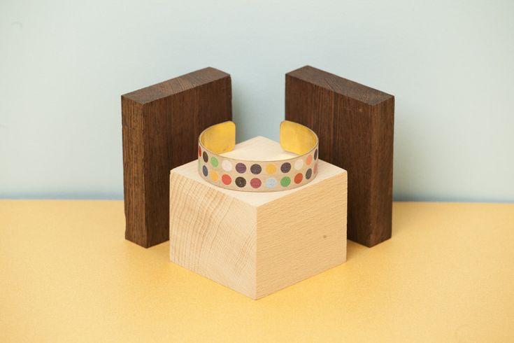 wood'd bracciale pois di legno e ottone - #sterlizieblog #pois #legno #wood #lasercut #makers #bracelet