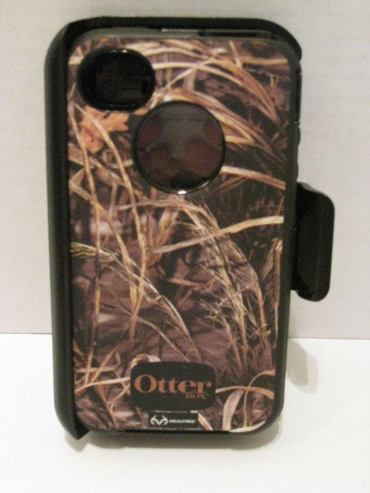 Apple iPhone 4/4S Realtree Otterbox Defender Holster Belt Clip Cell Phone Case #OtterBox