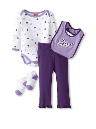 55% OFF Izod Girl's 4-Piece Deluxe Layette Set (Purple)