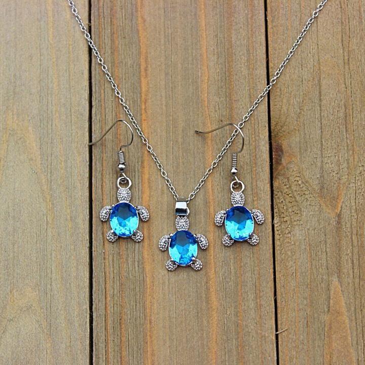 Ocean Brown Gemstones Necklace and Earrings Set