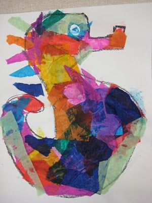 Eric Carle Sea-horses: Eric Carl Crafts For Preschool, Eric Carl Seahorses Crafts, Dali Moustache, Art Ideas, Carl Sea Hors, Eric Carl Crafts For Kids, Tissue Paper Art, Reading Activities, Construction Paper