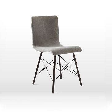 Crisscross Dining Chair #westelm Has both the eames base, but a more comfortable seat thanks to the upholstery