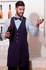 PAGAMENTO ANCHE ALLA CONSEGNA Grembiule da lavoro Gessato Sommelier bar cameriere cuoco Abbigliamento Abiti
