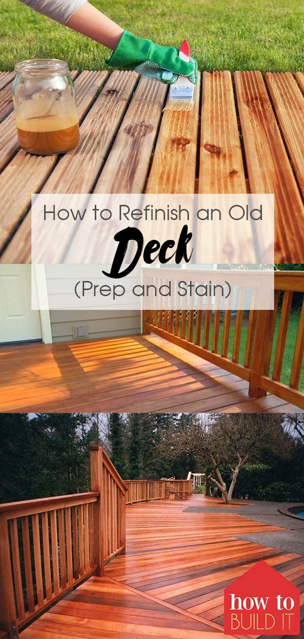 How To Refinish An Old Deck Prep And Stain Deck Prep Diy Deck