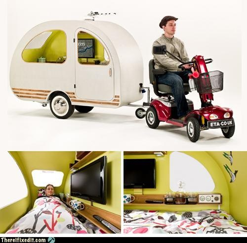 Not-A-Kludge: Scooter Powered Caravan